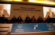 CGDC President Stoyanov participates in the Global Development Summit at the Special Olympics World Winter Games 2013