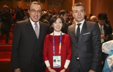 President Stoyanov, Na Kyung Won - Chair of the Special Olympics World Winter Games Organizing Committee and Stamen Stantchev