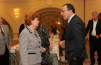 CGDC President Stoyanov and Co-Chair of the Nizami Ganjavi International Center Vaira Vike-Freiberga