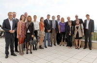 Stamen Stantchev and CGDC scholarship students 2011 with academic staff at MODUL University Campus